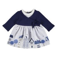 Girls Mayoral Dress 2828 Navy 69
