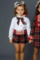 Girls Naxos Tartan Shorts Set 6457 6468