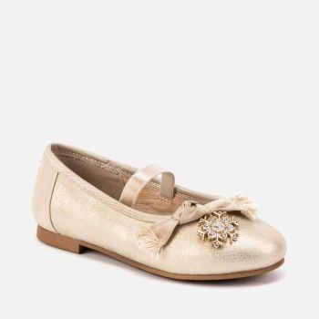 Girls Mayoral Shoes 46005 Champagne