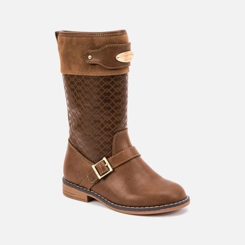 Girls Mayoral Boots 46041 Hazelnut