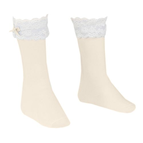 Girls Dolce Petit Socks - Cream