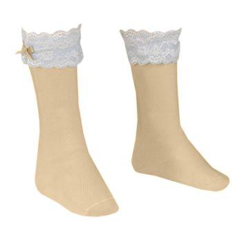 Girls Dolce Petit Socks - Camel