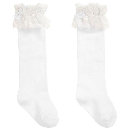 Girls Dolce Petit Socks - White