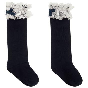 Girls Dolce Petit Socks - Navy