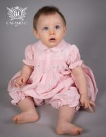 Girls Caramelo Kids Smocked Pyjamas 138005 Pink