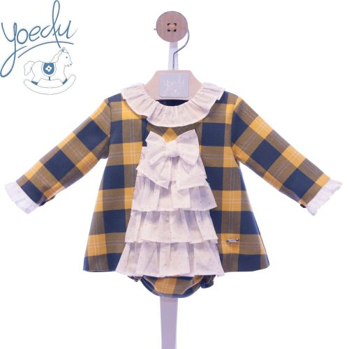 Girls Yoedu Navy Dress and Pants 2053