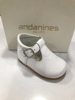 Boys Andanines White Patent Shoes 172817