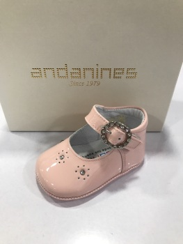 Girls Andanines Soft Sole Shoes 191800 - Pink