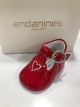Girls Andanines Soft Sole Shoes 181875 - Red