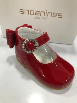 Girls Andanines Red Patent Shoes 192830