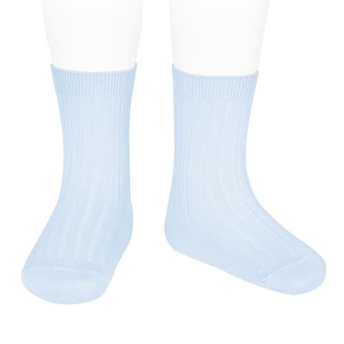 Condor Knee High Ribbed Socks - Blue