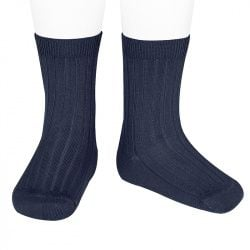Condor Knee High Ribbed Socks - Navy