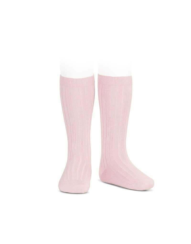 Condor Knee High Ribbed Socks - Pink