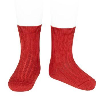 Condor Long Ribbed Socks - Red