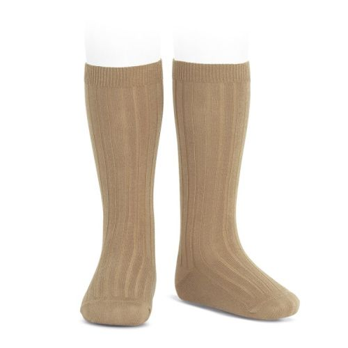 Condor Knee High Ribbed Socks - Camel