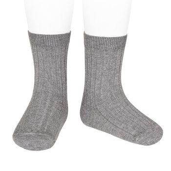 Condor Long Ribbed Socks - Grey