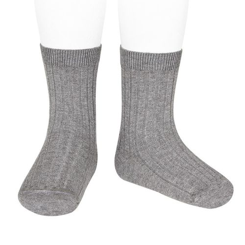 Condor Knee High Ribbed Socks - Grey