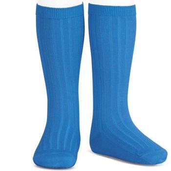 Condor Long Ribbed Socks - Royal Blue