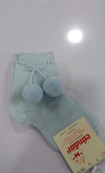 Condor Pom Pom Socks Short - Blue
