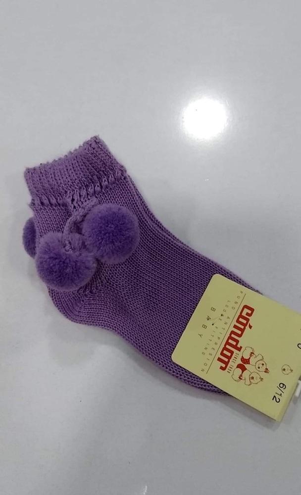 Condor Pom Pom Socks Short - Lilac