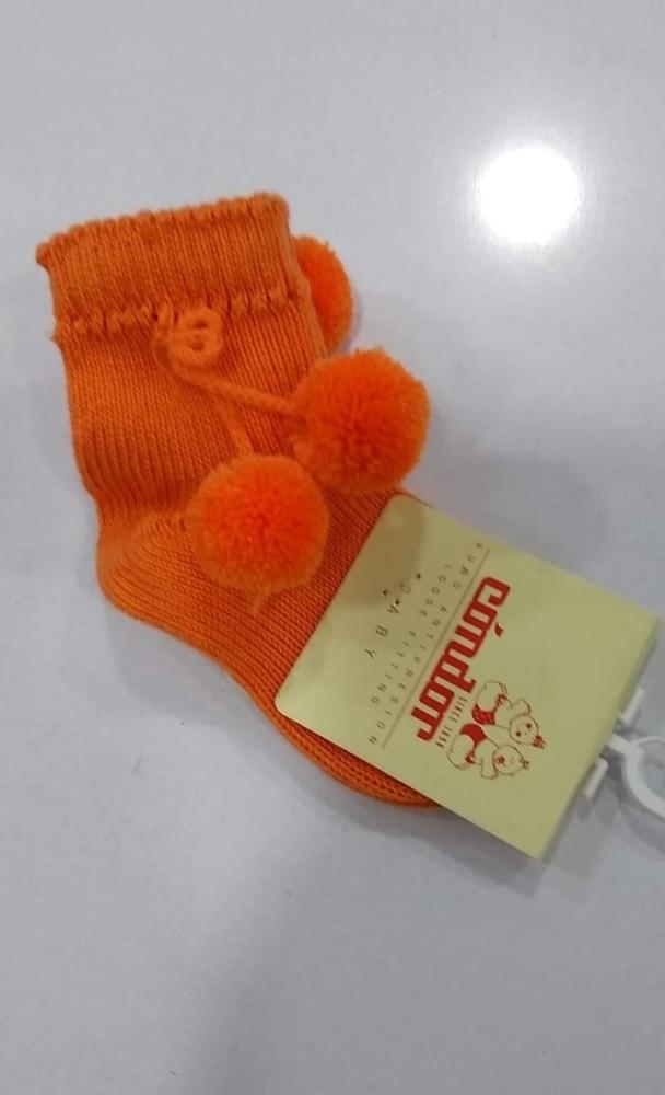 Condor Pom Pom Socks Short - Orange