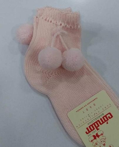 Condor Pom Pom Socks Short - Pink