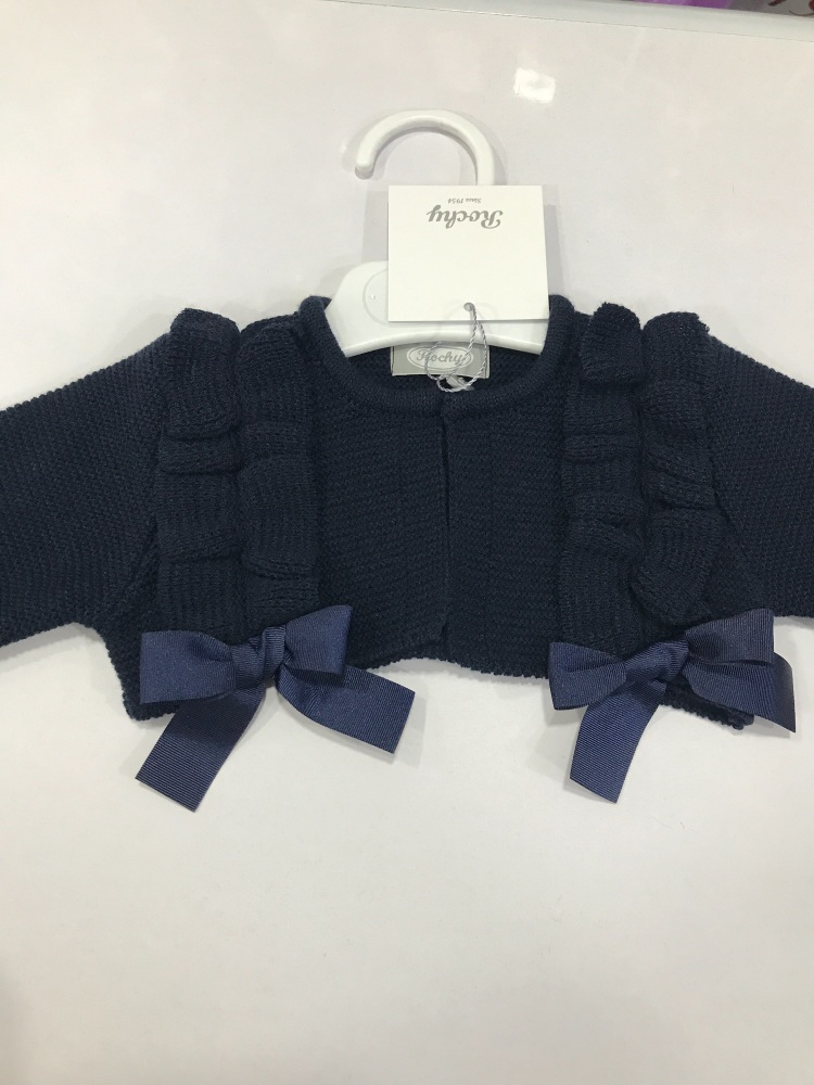 Girls Rochy Ruffle Bolero - Navy