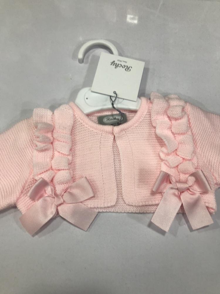 Girls Rochy Ruffle Bolero - Pink