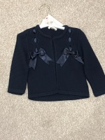 CLEARANCE PRICE Girls Couche Tot Bow Cardigan 1-2 years