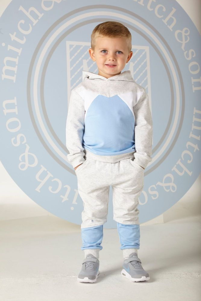 PRE ORDER SS20 Boys Mitch & Son Logan Hooded Trascksuit MS1304 Grey