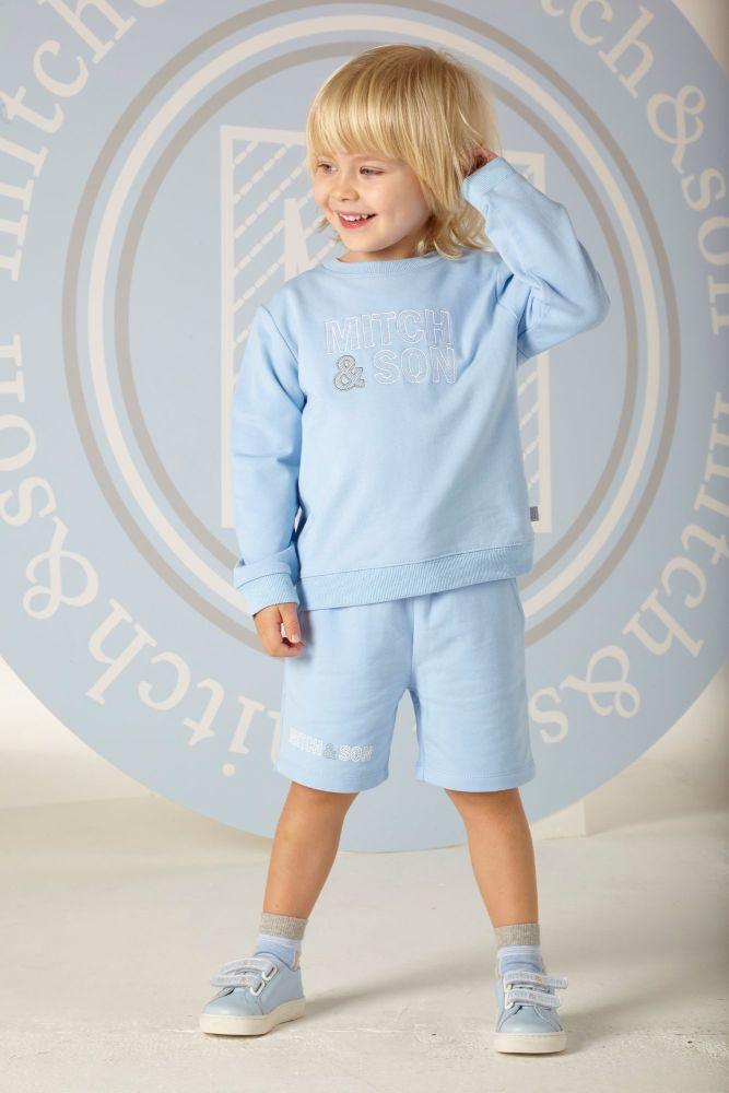 PRE ORDER SS20 Boys Mitch & Son Mason Sweatshirt and Shorts Set MS1306