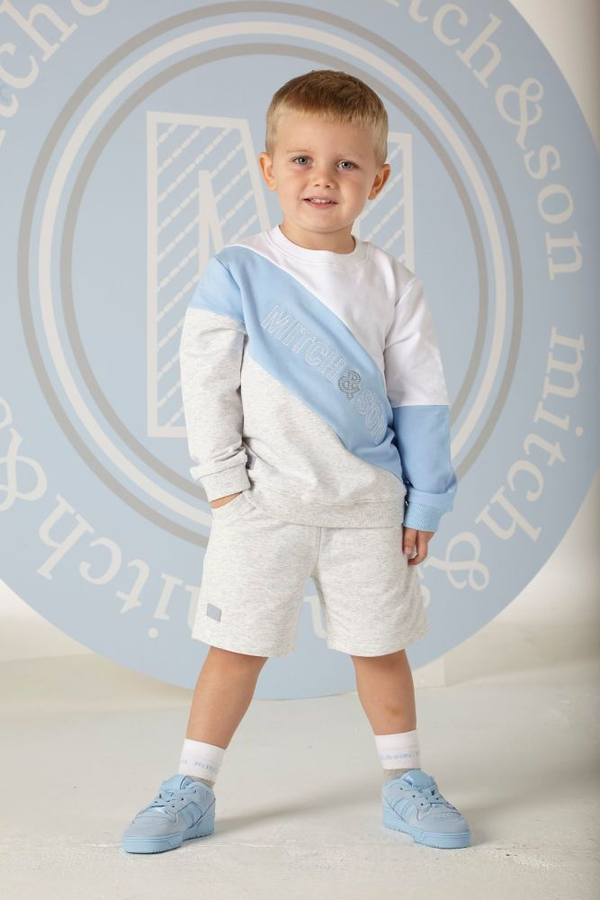 PRE ORDER SS20 Boys Mitch & Son Benjamin Sweatshirt and Shorts Set MS1305
