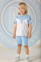 Boys Mitch & Son Cool Blues Robbie Polo Shirt and Shorts Set MS1350