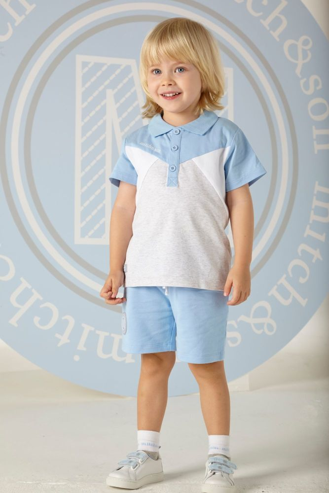 PRE ORDER SS20 Boys Mitch & Son Robbie Polo Shirt and Shorts Set MS1350