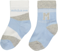 Boys Mitch & Son Cool Blues Aiden Socks 2 Pack MS1316 Blue