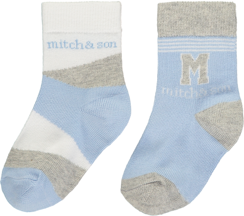 PRE ORDER SS20 Boys Mitch & Son Aiden Socks 2 Pack MS1316 Blue