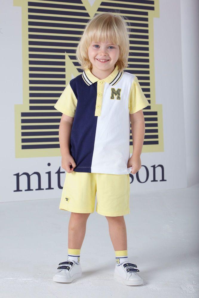 PRE ORDER SS20 Boys Mitch & Son Ocean Adventure Blair Polo Shirt and Shorts