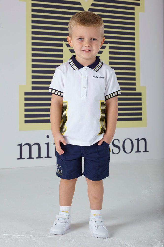 PRE ORDER SS20 Boys Mitch & Son Ocean Adventure Jayden Polo Shirt MS1325