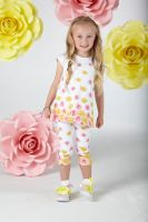 Girls A*Dee Falling Roses Beth Leggings Set S202506
