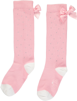 Girls A*Dee Falling Roses Babe Sparkle Knee High Socks S202918 - Pink