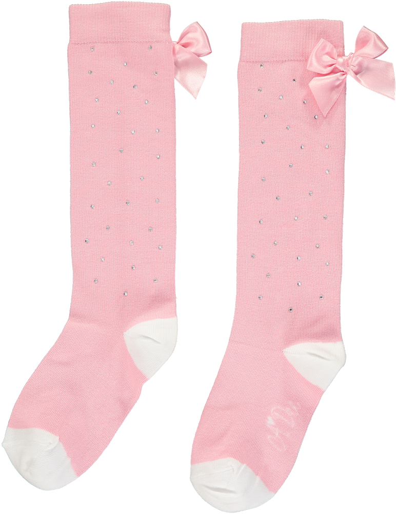PRE ORDER SS20 Girls A*Dee Falling Roses Babe Sparkle Knee High Socks S2029