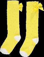Girls A*Dee Falling Roses Babe Sparkle Knee High Socks S202918 - Lemon