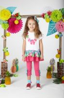 Girls A*Dee Hawaiian Holiday Darrah Top and Leggings Set S204513