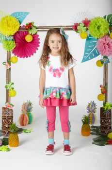 Girls A*Dee Hawaiian Holiday Darrah Top and Leggings Set S204513