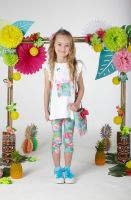 Girls A*Dee Hawaiian Holiday Destiny Top and Leggings Set S204514