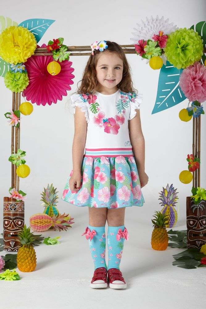 PRE ORDER SS20 Girls A*Dee Hawaiian Holiday Dulcie Dress S204711