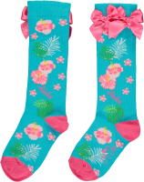 Girls A*Dee Hawaiian Holiday Dunn Knee High Sock S204914