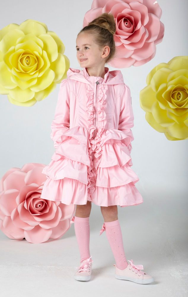 PRE ORDER SS20 Girls A*Dee Falling Roses Bali Frill Hooded Jacket S202203