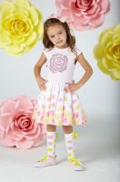 Girls A*Dee Falling Roses Brooke Dress S202704