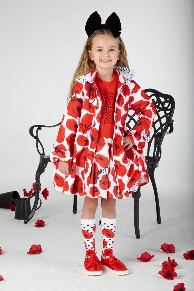 PRE ORDER SS20 Girls A*Dee Poppy Garden Abella Hooded Jacket S201200